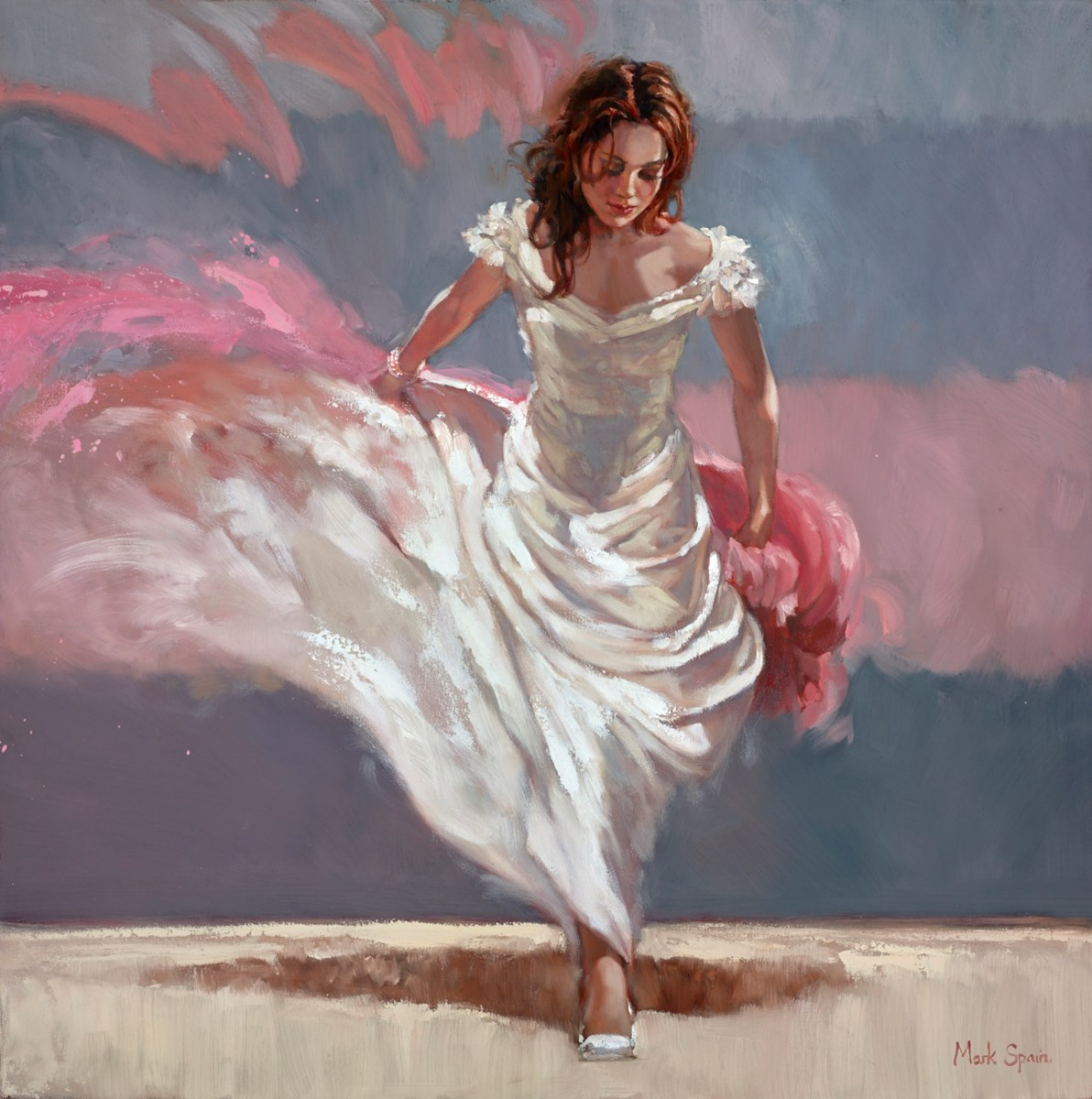 White Dance IV by mark spain -  sized 24x24 inches. Available from Whitewall Galleries